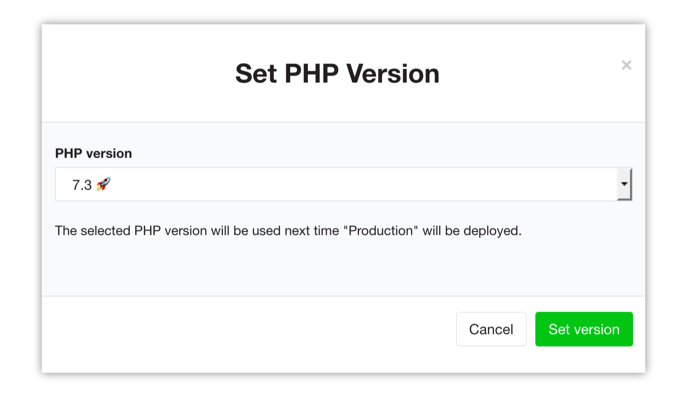 Neos using PHP 7.3 on Flownative Beach
