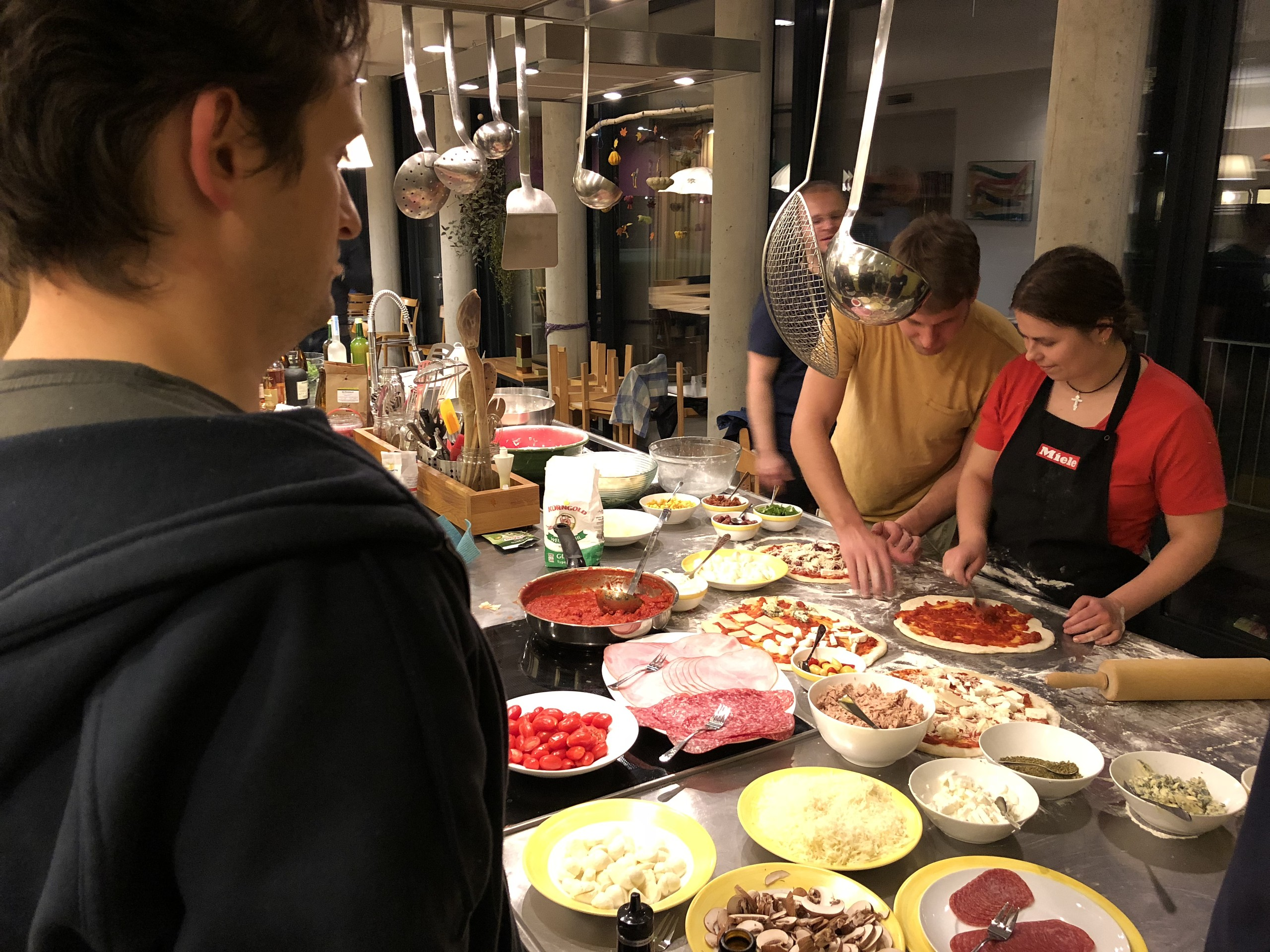 Pizza evening at the Neos sprint Vienna 2017