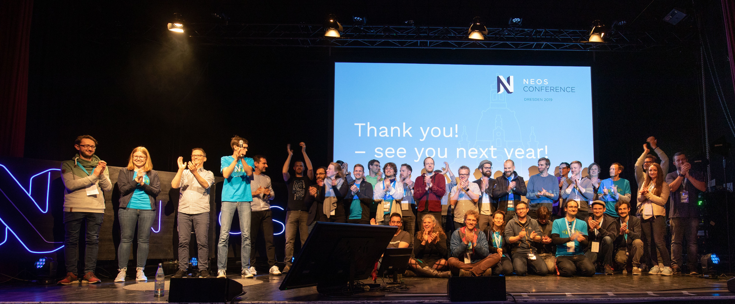 The team of Neos Conference 2019 on stage