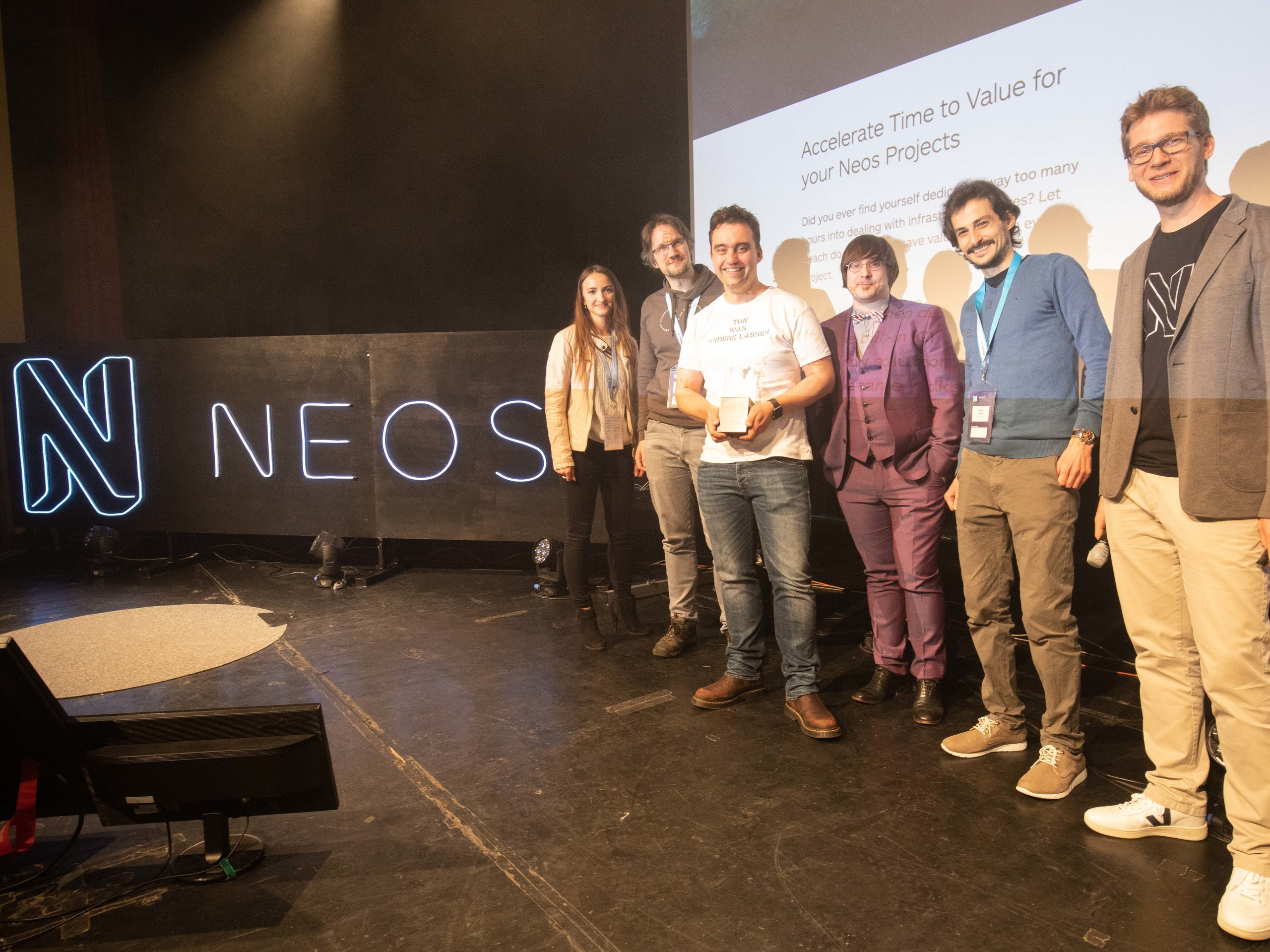 The Flownative team receives the Neos CMS Gold Award